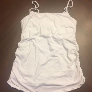 Motherhood Maternity White Camisole. Size Large